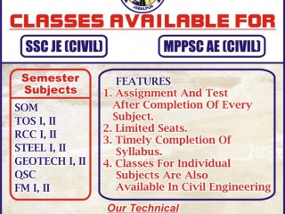 TS Civil Engineering Classes Jabalpur | best civil engineering classes in jabalpur | Ssc JE classes in jabalpur |